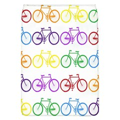 Rainbow Colors Bright Colorful Bicycles Wallpaper Background Flap Covers (L)