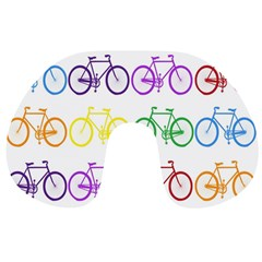 Rainbow Colors Bright Colorful Bicycles Wallpaper Background Travel Neck Pillows