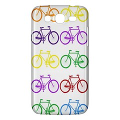 Rainbow Colors Bright Colorful Bicycles Wallpaper Background Samsung Galaxy Mega 5 8 I9152 Hardshell Case