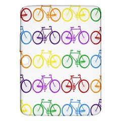Rainbow Colors Bright Colorful Bicycles Wallpaper Background Samsung Galaxy Tab 3 (10.1 ) P5200 Hardshell Case