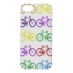Rainbow Colors Bright Colorful Bicycles Wallpaper Background Apple iPhone 5S/ SE Hardshell Case