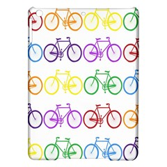 Rainbow Colors Bright Colorful Bicycles Wallpaper Background iPad Air Hardshell Cases