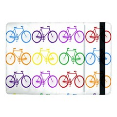 Rainbow Colors Bright Colorful Bicycles Wallpaper Background Samsung Galaxy Tab Pro 10 1  Flip Case