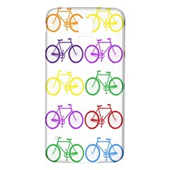 Rainbow Colors Bright Colorful Bicycles Wallpaper Background Samsung Galaxy S5 Back Case (White)