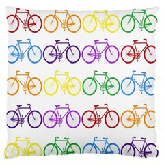 Rainbow Colors Bright Colorful Bicycles Wallpaper Background Large Flano Cushion Case (Two Sides)