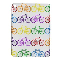Rainbow Colors Bright Colorful Bicycles Wallpaper Background iPad Air 2 Hardshell Cases