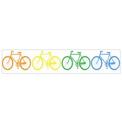 Rainbow Colors Bright Colorful Bicycles Wallpaper Background Flano Scarf (Small)