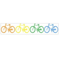 Rainbow Colors Bright Colorful Bicycles Wallpaper Background Flano Scarf (large)