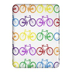 Rainbow Colors Bright Colorful Bicycles Wallpaper Background Samsung Galaxy Tab 4 (10 1 ) Hardshell Case