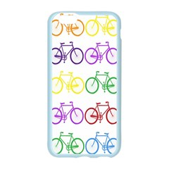 Rainbow Colors Bright Colorful Bicycles Wallpaper Background Apple Seamless iPhone 6/6S Case (Color)