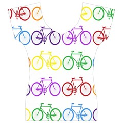 Rainbow Colors Bright Colorful Bicycles Wallpaper Background Women s V-Neck Cap Sleeve Top