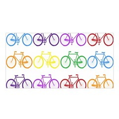 Rainbow Colors Bright Colorful Bicycles Wallpaper Background Satin Shawl