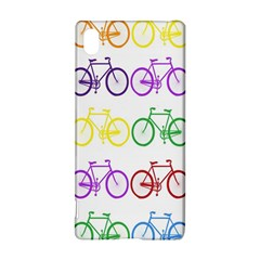 Rainbow Colors Bright Colorful Bicycles Wallpaper Background Sony Xperia Z3+