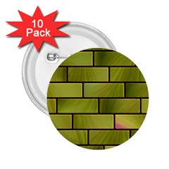 Modern Green Bricks Background Image 2 25  Buttons (10 Pack)