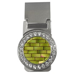 Modern Green Bricks Background Image Money Clips (CZ)