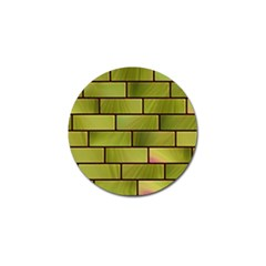 Modern Green Bricks Background Image Golf Ball Marker