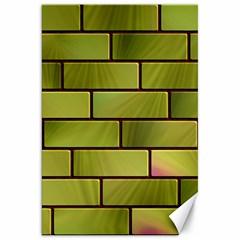 Modern Green Bricks Background Image Canvas 20  x 30