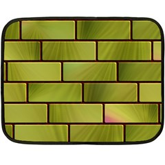 Modern Green Bricks Background Image Fleece Blanket (mini)