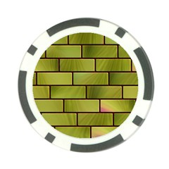 Modern Green Bricks Background Image Poker Chip Card Guard (10 Pack)