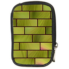 Modern Green Bricks Background Image Compact Camera Cases