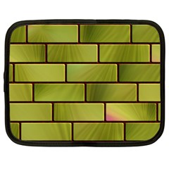 Modern Green Bricks Background Image Netbook Case (xxl)