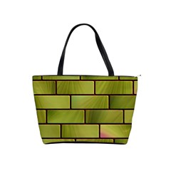 Modern Green Bricks Background Image Shoulder Handbags