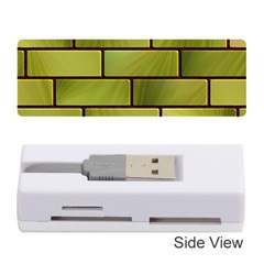 Modern Green Bricks Background Image Memory Card Reader (stick)