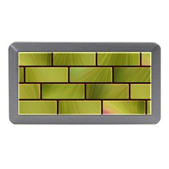 Modern Green Bricks Background Image Memory Card Reader (Mini)