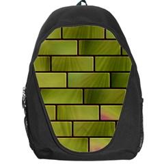 Modern Green Bricks Background Image Backpack Bag