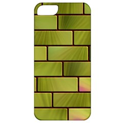Modern Green Bricks Background Image Apple iPhone 5 Classic Hardshell Case