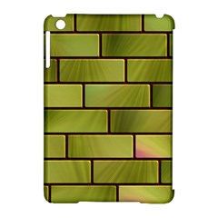 Modern Green Bricks Background Image Apple Ipad Mini Hardshell Case (compatible With Smart Cover)