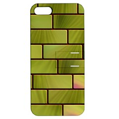 Modern Green Bricks Background Image Apple iPhone 5 Hardshell Case with Stand