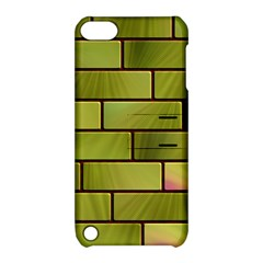Modern Green Bricks Background Image Apple Ipod Touch 5 Hardshell Case With Stand