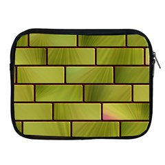 Modern Green Bricks Background Image Apple iPad 2/3/4 Zipper Cases