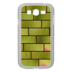 Modern Green Bricks Background Image Samsung Galaxy Grand DUOS I9082 Case (White)