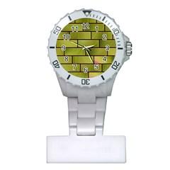 Modern Green Bricks Background Image Plastic Nurses Watch