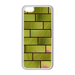 Modern Green Bricks Background Image Apple Iphone 5c Seamless Case (white)