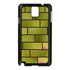 Modern Green Bricks Background Image Samsung Galaxy Note 3 N9005 Case (Black)