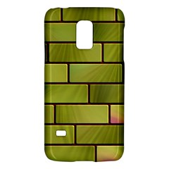 Modern Green Bricks Background Image Galaxy S5 Mini