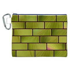 Modern Green Bricks Background Image Canvas Cosmetic Bag (XXL)