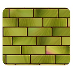 Modern Green Bricks Background Image Double Sided Flano Blanket (Small)