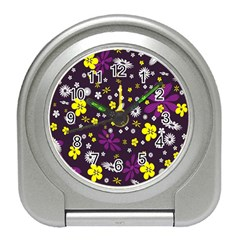 Flowers Floral Background Colorful Vintage Retro Busy Wallpaper Travel Alarm Clocks