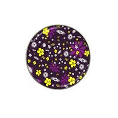 Flowers Floral Background Colorful Vintage Retro Busy Wallpaper Hat Clip Ball Marker