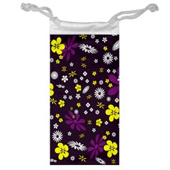 Flowers Floral Background Colorful Vintage Retro Busy Wallpaper Jewelry Bag