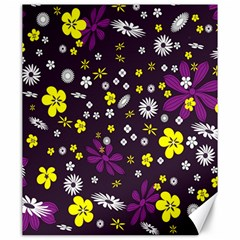 Flowers Floral Background Colorful Vintage Retro Busy Wallpaper Canvas 20  X 24