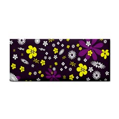Flowers Floral Background Colorful Vintage Retro Busy Wallpaper Cosmetic Storage Cases