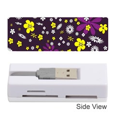 Flowers Floral Background Colorful Vintage Retro Busy Wallpaper Memory Card Reader (Stick)
