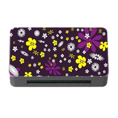 Flowers Floral Background Colorful Vintage Retro Busy Wallpaper Memory Card Reader with CF