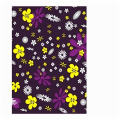 Flowers Floral Background Colorful Vintage Retro Busy Wallpaper Small Garden Flag (Two Sides)