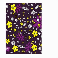 Flowers Floral Background Colorful Vintage Retro Busy Wallpaper Large Garden Flag (Two Sides)